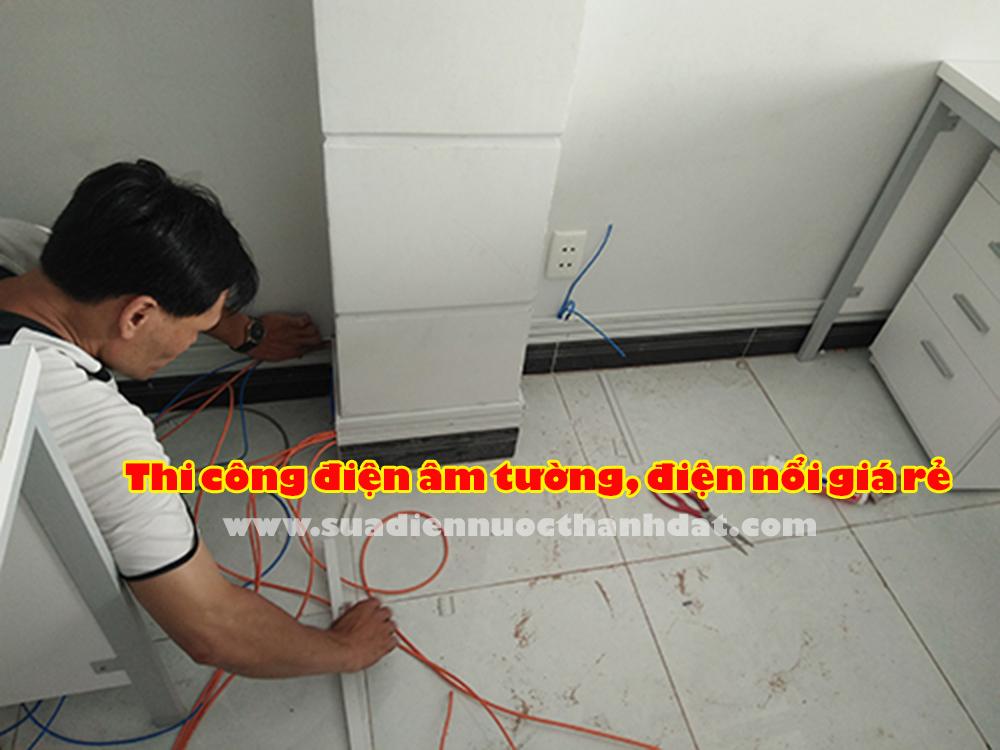 báo giá đi dây điện âm tường